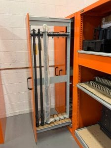 weapons storage shelving